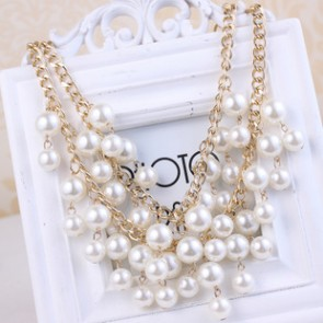 Women's Strands Necklace 2015 Pearl Bridal Accessories TCDN2228