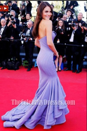 Ximena Navarrete Lavender Formal Dress 2013 Cannes Film Festival Gown
