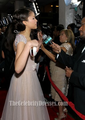Zendaya Coleman Prom Dress NAACP Image Awards 2012 Red Carpet Celebrity Dresses