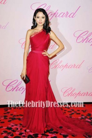 Zhang Zilin Red Formal Dress Cannes Film Festival 2011