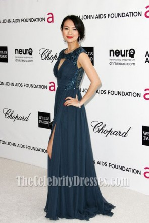Zhang Ziyi Evening Prom Gown Oscars 2012 Viewing party