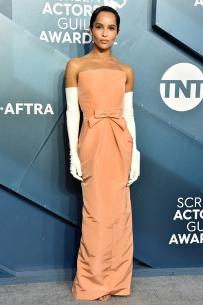 Zoe Kravitz Strapless Sheath Evening Dress 2020 SAG Awards
