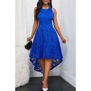Lace High Low Scoop Tank Dress