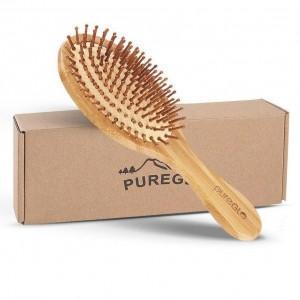 Natural Bamboo Paddle Hair Brush Oval