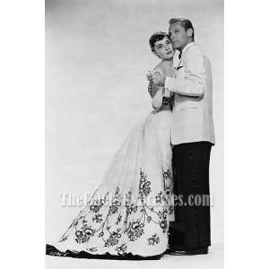Audrey Hepburn Vintage Wedding Dress Ball Gown in Movie Sabrina