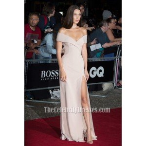Bella Hadid Nude GQ Model of the Year Award in Stunning Off-the shoulder Evening Dress 4