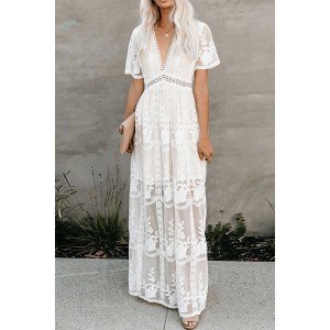 Chic See-through Lace Dress