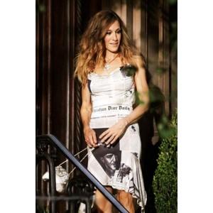 "Sarah Jessica Parker Newspaper Party Dress Cocktail Dresses ""Sex and the City 2"""