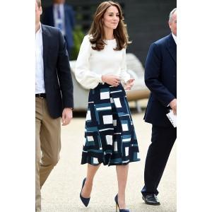Kate Middleton Shirt+Skirt Suit