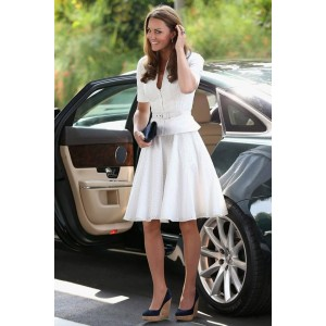 Kate Middleton White Cut Out Dress