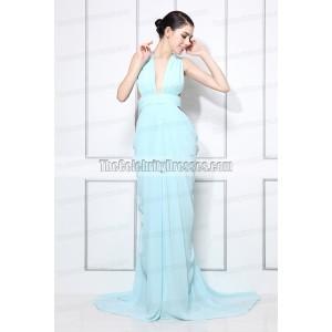 Miranda Kerr Blue Halter Prom Dress 2012 Women of Style Awards