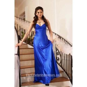 Nina Dobrev Royal Blue Evening Dress In Vampire Diaries Miss Mystic Falls
