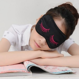 Black Women Natural Silk Sleep Mask Eye Mask Blindfold With Adjustable Strap Eye Cover for Men and Kids For Sale