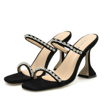 Women's Open Toe High Heel Sandals With Rhinestone Shoes