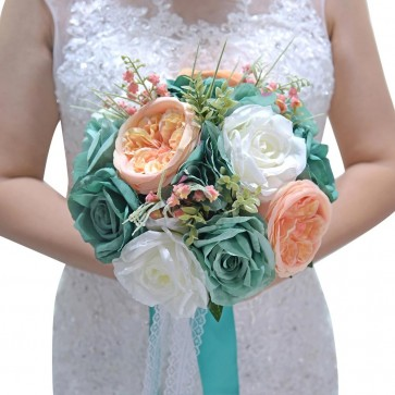 Colorful Free-Form Artificial Flower Bridal Bouquets