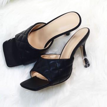 Women's Faux Leather Open-toe Slide
