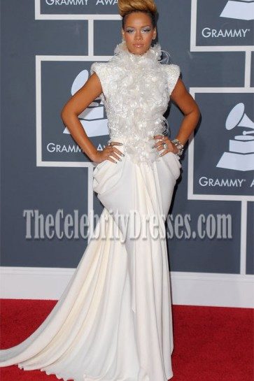 Rihanna Prom Gown Formal Dress 2010 Grammys Red Carpet