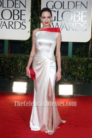 Angelina Jolie One Shoulder Prom Dress Evening Gown 2012 Golden Globes Awards Red Carpet