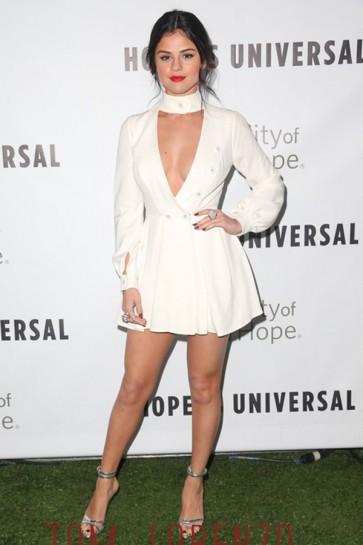 Selena Gomez Mini-Party-Kleid Stadt der Hoffnung 2015 Geist des Lebens Gala TCD6391