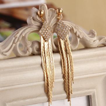 Crystal Earrings Ear jewelry Fashion generous Tassel Earrings TCDE006