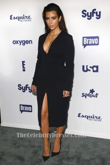 Kim Kardashian Long Sleeve Little Black Dress Cocktail Dresses TCD5981