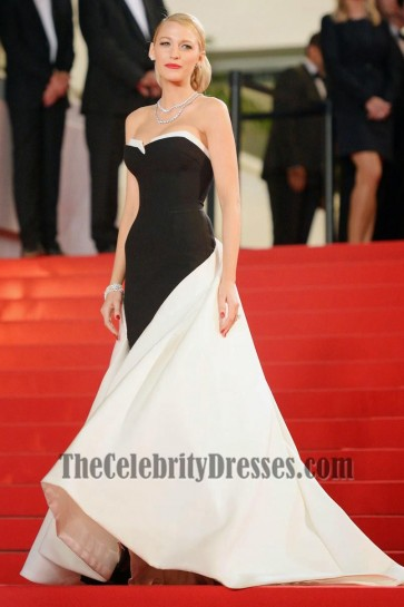 Blake Lively Black And White Formal Dress Captives Premiere Cannes 2014