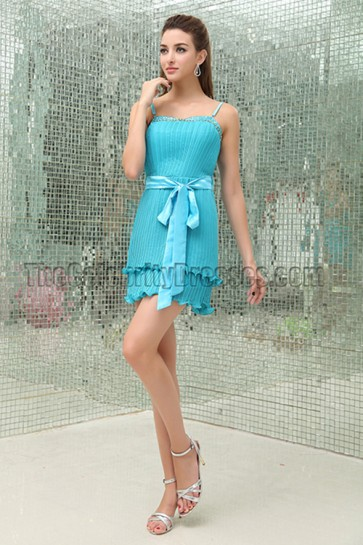 Celebrity Inspired Blue Mini Party Graduation Homecoming Dresses