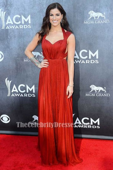 Cassadee Pope Backless Abendkleid ACM Awards 2014 Roter Teppich TCD6209