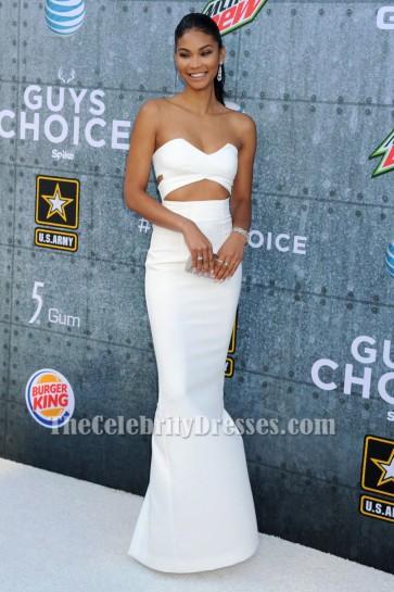 Chanel Iman Elfenbein Ausschnitt Abendkleid 2015 Spike TV 'Guys Choice Awards TCD6207