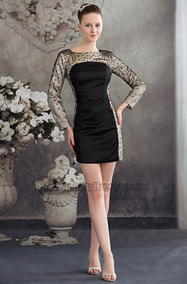 Chic Short Mini Long Sleeve Party Homecoming Dresses