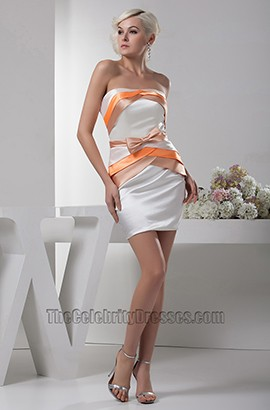 Chic Short /Mini Strapless Sheath Party Homecoming Dresses