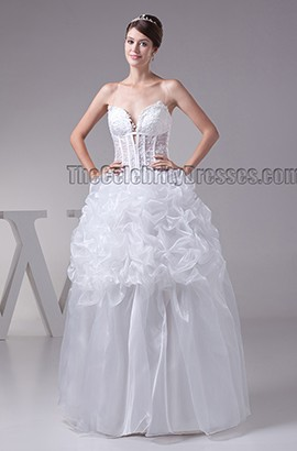 Floor Length Spaghetti Straps Ball Gown Lace Up Wedding Dress