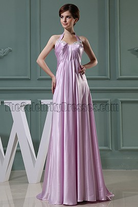 Lilac Halter Long Prom Dress Evening Formal Dresses