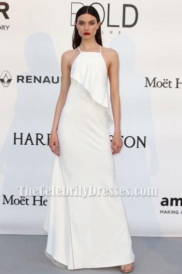 Jacquelyn Jablonski weißes Abendballkleid amfars 23. Kino gegen AIDS-Gala