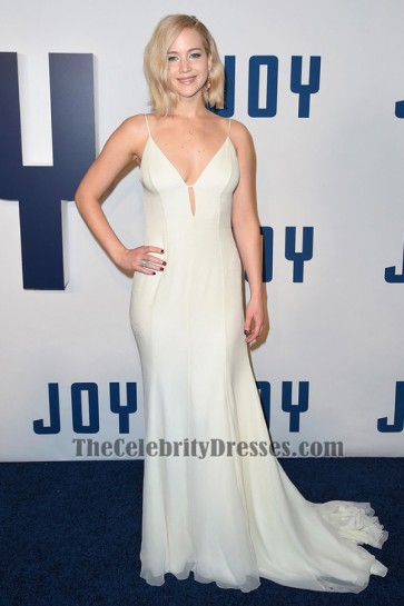 Jennifer Lawrence sexy rückenfreies Abendkleid 'Joy' New York Premiere