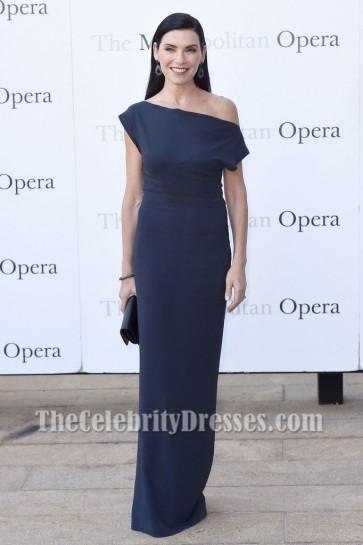 Julianna Margulies dark navy Formales Kleid Met Opera 2016-2017 Saison Eröffnungsleistung