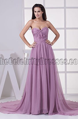 Celebrity Inspired Strapless Sweetheart Prom Gown Evening Dresses