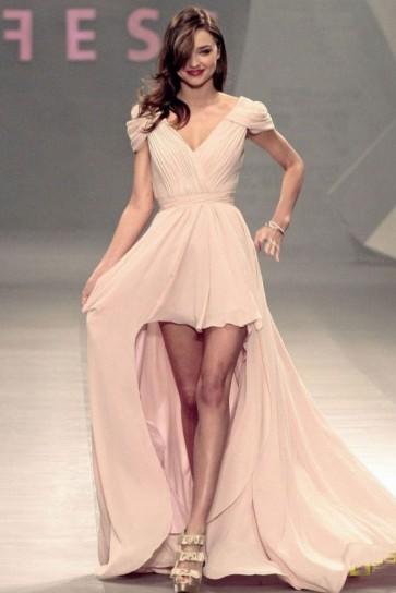 Miranda Kerr Hoch Niedrige Abschlussballkleid-Abend-Kleid-Laufbahn Mexiko-Stadt