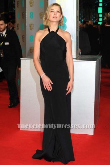 Rosamund Pike Schwarzes Formales Abendkleid BAFTAs 2015 Roter Teppich TCD6149