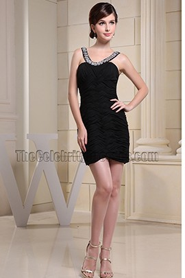 Sexy Little Black Dress Short Mini Party Dresses With Beading
