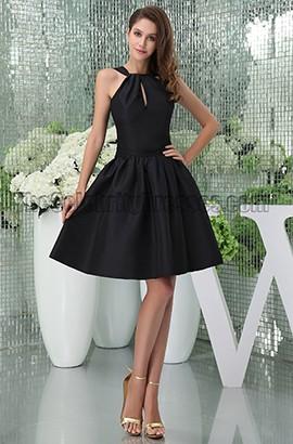Chic Short Black A-Line Party Graduation Little Black Dresses