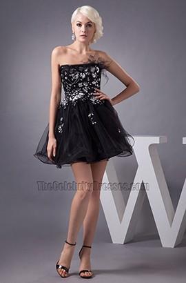Gorgeous Short Strapless A-Line Party Little Black Dresses