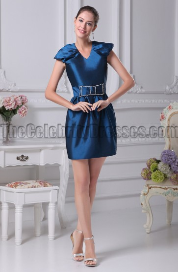 Short Mini V-neck Party Cocktail Homecoming Dresses