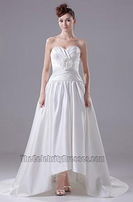 Chic Sweetheart Strapless A-Line Taffeta Wedding Dresses