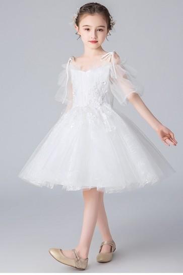 Ball-Gown Off Shoulder Girl Flower Dress