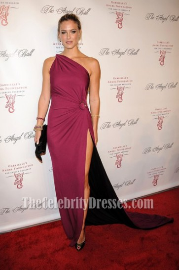Bar Refaeli One Shoulder Evening Dress Angel Ball 2012 Red Carpet Dresses