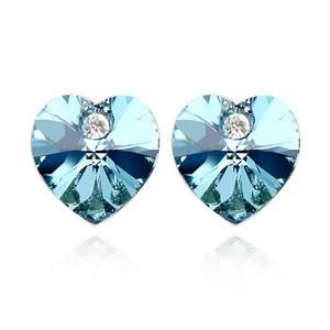 Blue Heart Austrian Crystal Stud Earrings for Sale TCDE0070