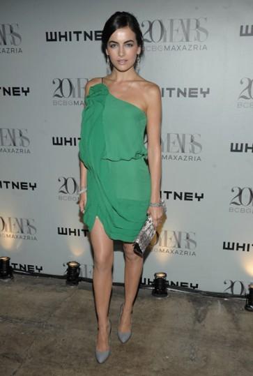 Camilla Belle Short One Shoulder Green Cocktail Party Dress