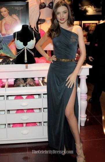 Celebrity Dresses Miranda Kerr One Shoulder Dress Relaunches Victoria's Secret South Coast Plaza Store