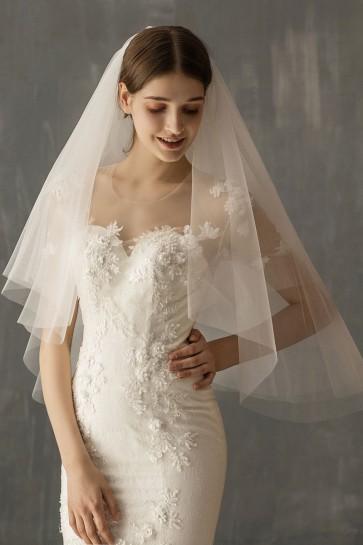 Cut Edge Elbow Bridal Veils